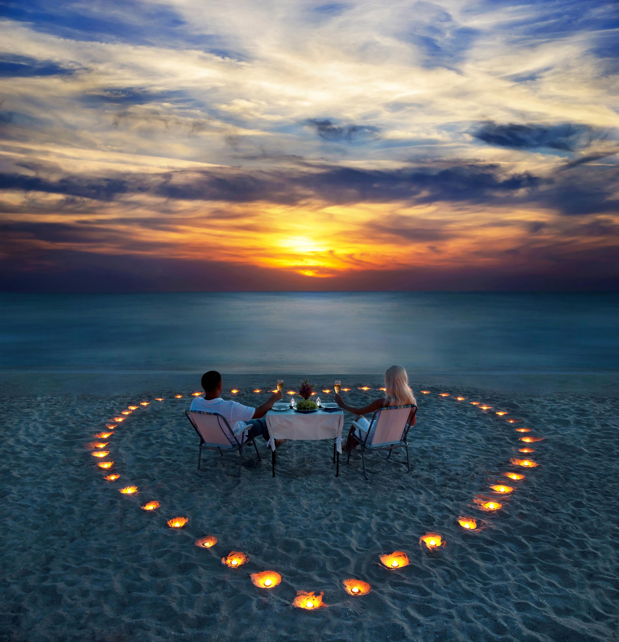 romantic, love, couple, beach, travel