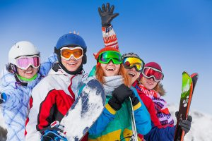 group, ski, snowboard, holiday, snow, slope, goggles, winter, winter sports