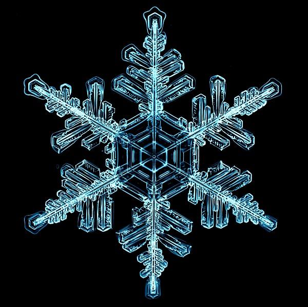 snowflake, snow, natural, ice