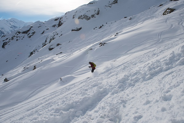 ski, snow, off piste, skier, slope,