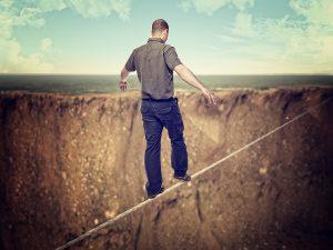 brave, rope, tightrope, man,