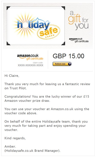 Amazon Voucher win November