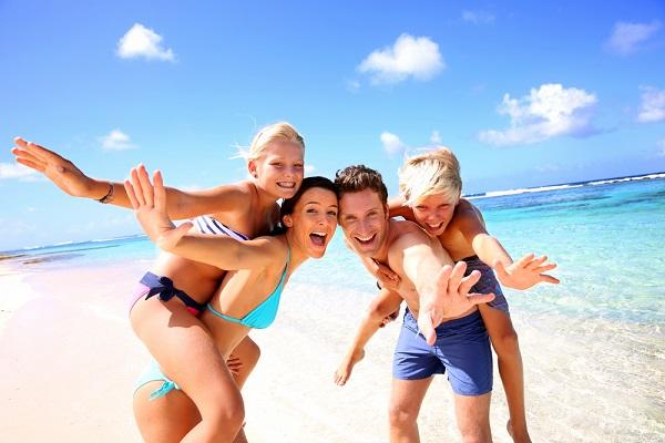 family, Easter, holidays, Beach