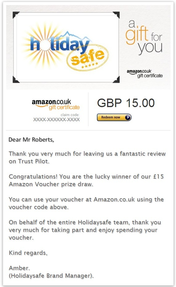 Amazon Voucher win May