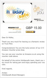 Amazon Voucher win July