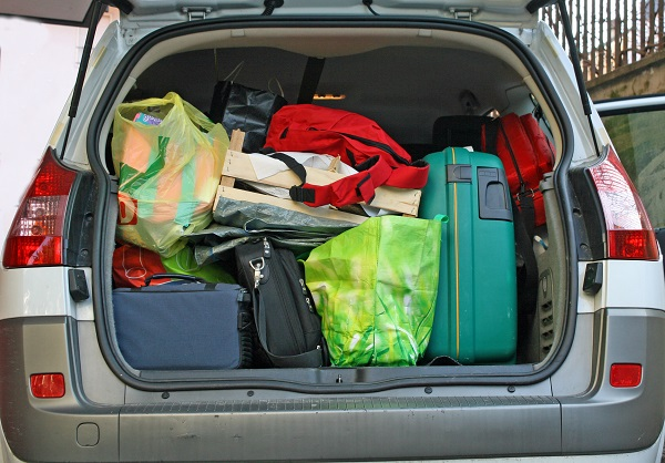 car, staycation, luggage