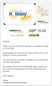 Amazon Voucher Win October 14