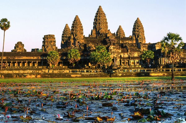 Angkor Wat at sunset, cambodia.