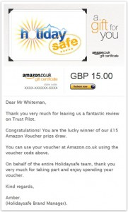 Amazon Voucher January 15