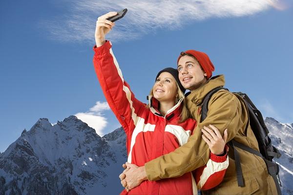 Winter sport selfie