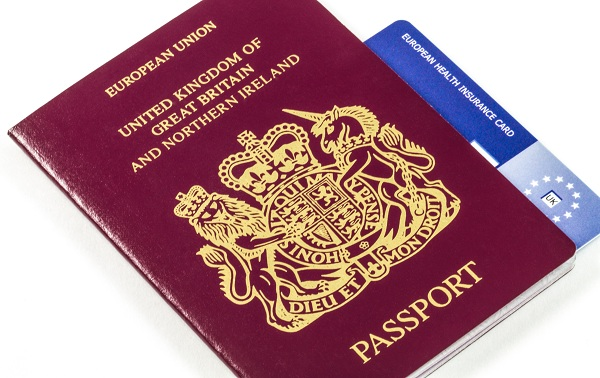 British Passport with E111 EHIC
