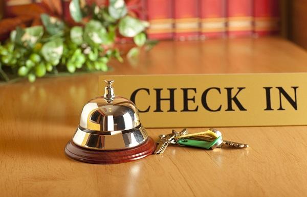 hotel, check in, reception