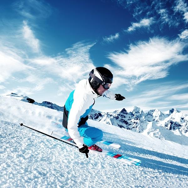 skiing, snow, man, dry slope, Olympics,, winter Olympics.