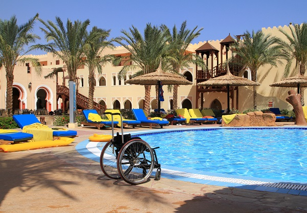 Travel - Disability - Wheelchair - Pool - Sun