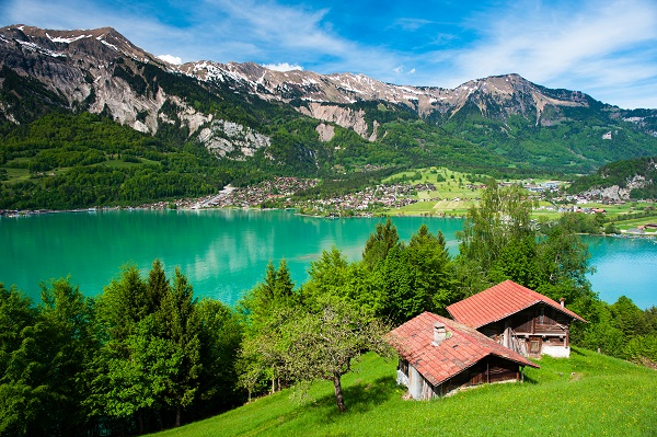 Panorama of lake Brienz