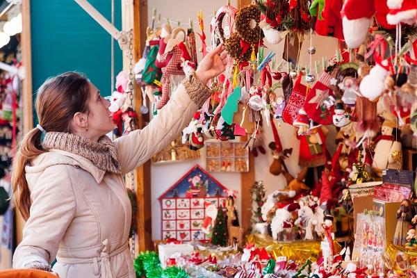 Woman at Christmas market