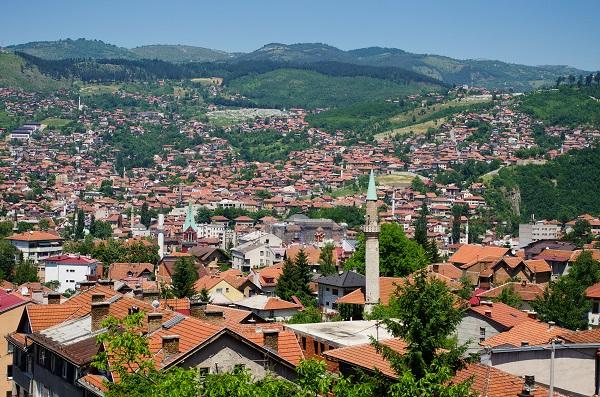 Cityscape of Sarajevo