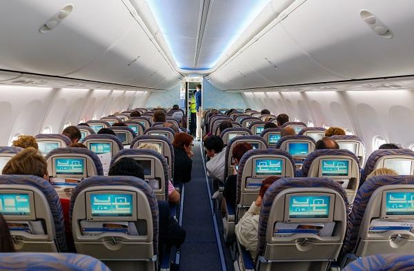 Interior of passenger aircraft