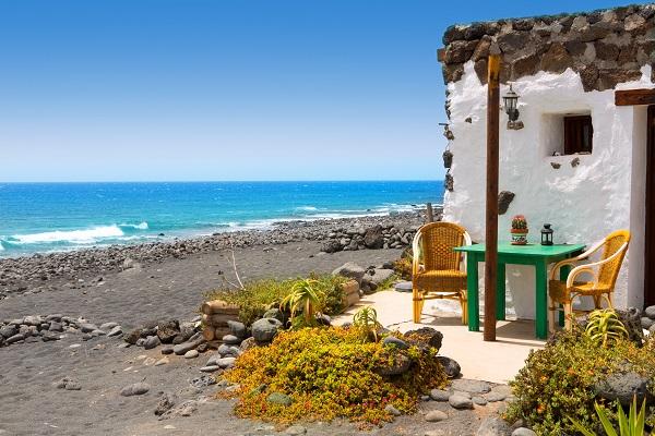 El Golfo in Lanzarote white houses facades