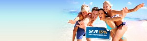 Save up to 15% buying travel insurance online