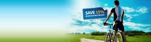 Save up to 15% buying mountain biking insurance online