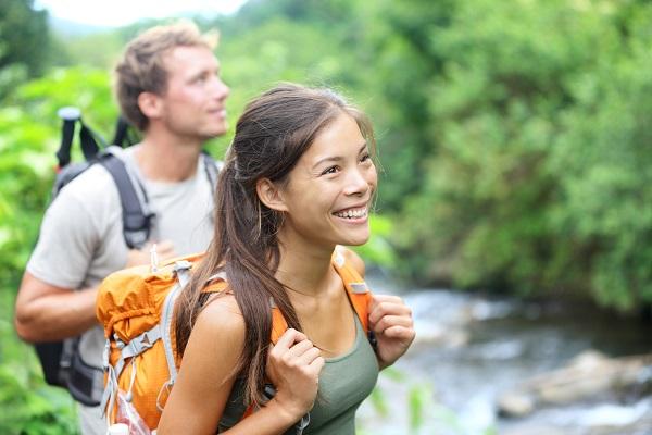 Hiking Backpacker Couple