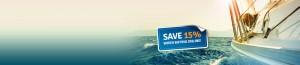 Save 15% buying sailing insurance online