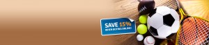Save 15% buying sports travel insurance online