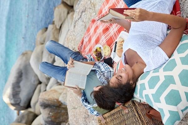 Staycation beach picnic
