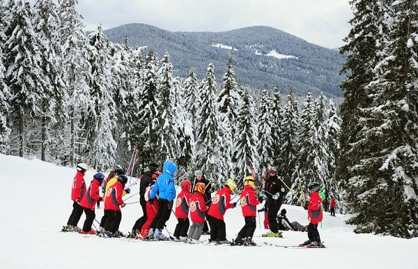 Winter sports ski lessons