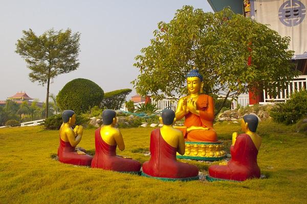 Scenes of Buddha's life in Lumbini, Nepal