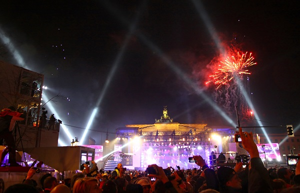Berlin, new year, fireworks