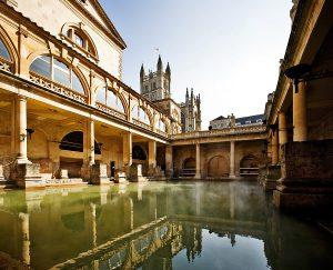 roman bath, bath,