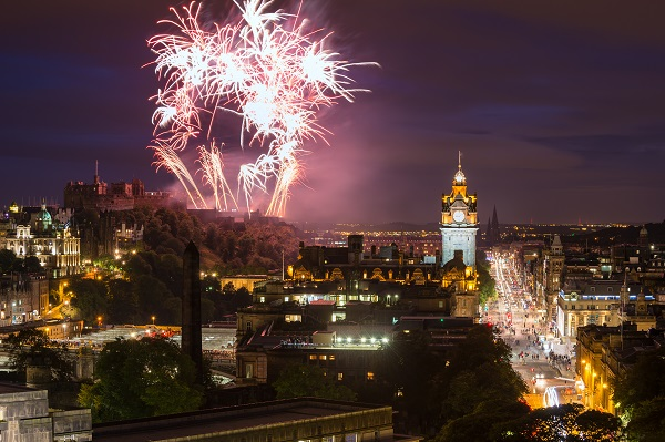 Edinburgh, new year, fireworks