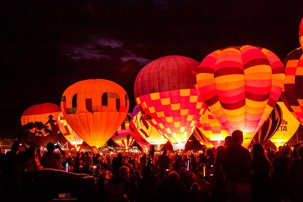 hat air balloon, balloon festivals, festival, night,