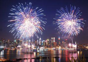 new York, fireworks, new year