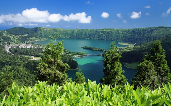 azore, sao miguel, island, portugal, lake, trees, hidden gem