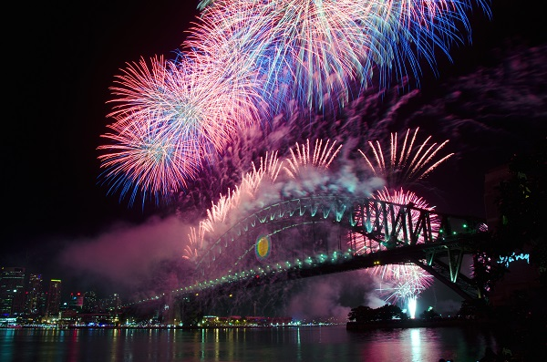 new years, fireworks, Sydney, Australia