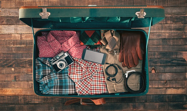 suitcase, packing, gadget, tech, handy, travel