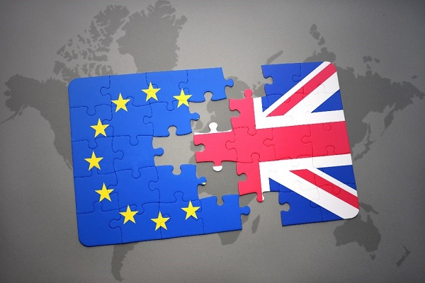 jigsaw puzzle representing Britain leaving the EU