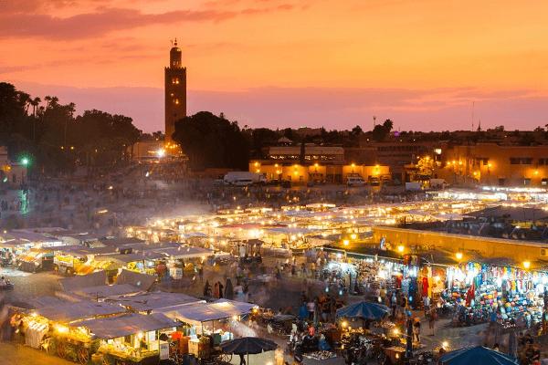 market in Marrakesh Morocco