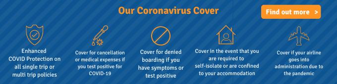 Covid-19 travel insurance cover