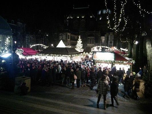 Destination-Aachen-Christmas-Market -at-Night