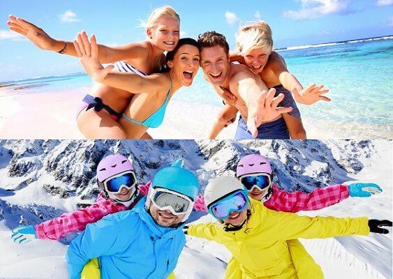 Stock-Picture-Ski-Family-Winter-Sun-Family